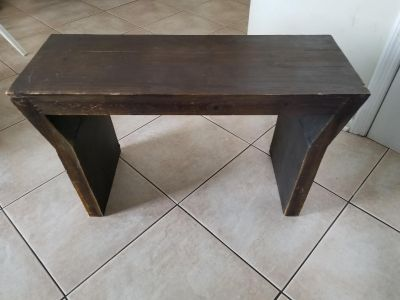 """Wood Bench. 31"""" x 12"""". Great Easy Project."""