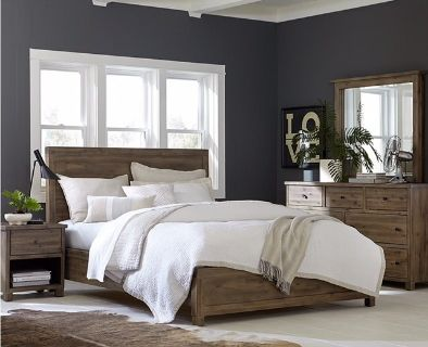 NEW! UPSCALE/LUX SOLID HEAVY WOOD QUEEN BED SET BY M. INTERNATIONAL