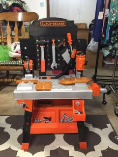 Black and Decker toy work table