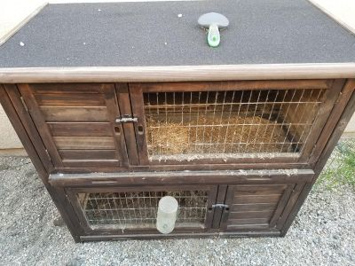 Rabbit two level cage