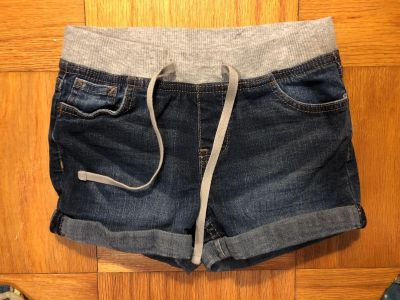 Justice Brand Drawstring Blue Jean Shorts. Nice Condition. Size 8