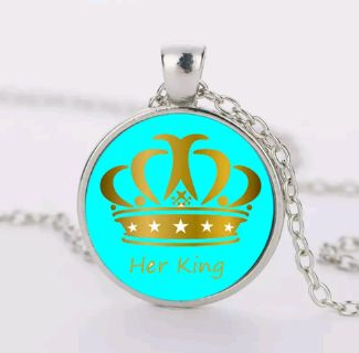 His Queen/Her King Necklace Set