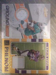 Two rare limited patch football cards