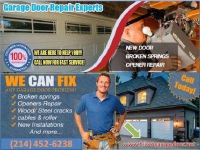 Start only $25.95 | Expert Garage Door Repair 75035 | (214) 452-6238