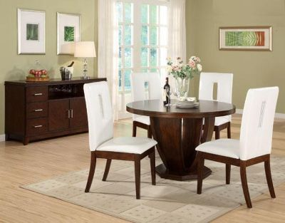 Homelegance 1410-48 Round Pedestal Table w/Your Choice of 4 Chairs