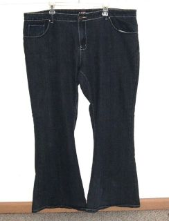Womens Plus 22 Lucky Diamond Flare Denim Jeans Plus 22 x 31 Stretch 22w