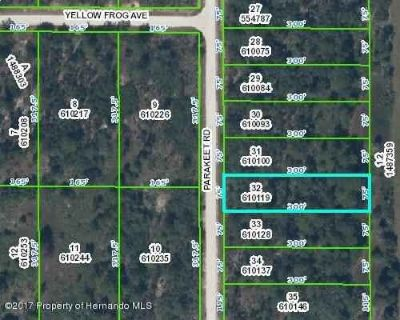 Lot32 Parakeet Road Weeki Wachee, Wonderful lot close to