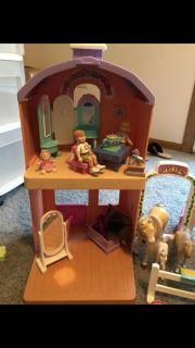 HUGE FISHER PRICE DOLLHOUSE LOT