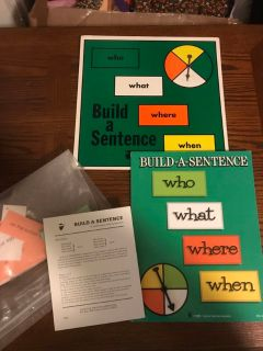 Vintage 1973 Build-A-Sentence Educational Game