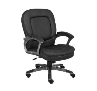 Boss 7106 Black Mid Back Swivel Chair Org. 12 Quantity