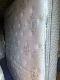 Mattress is Used - King Size - Hampton & Rhodes Pillowtop Mattress with Box Springs -Price Not Negotiable