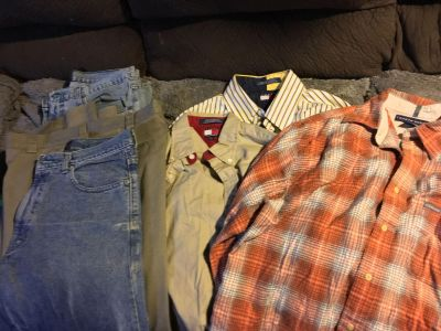 Men s Tommy Hilfiger 3 pants 3 shirts