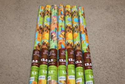 $3 per roll Hallmark Wrapping Paper w/dogs on it