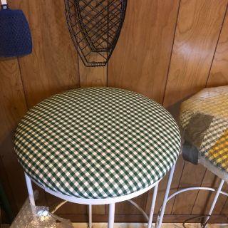 White rod iron stools new never used