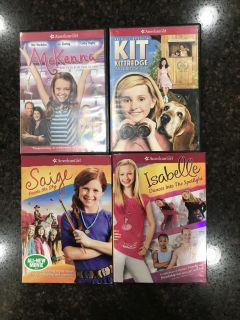 American girl dvds. $2 for all. Cross posted.