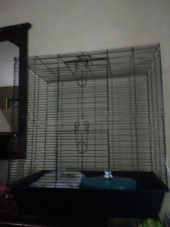 Large 3 door small animal or bird cage