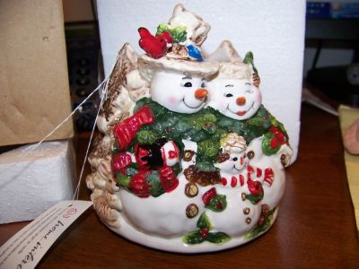 Snowman Candle Topper **REDUCED**