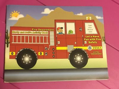 MOVING SALE!! Fire truck coloring book