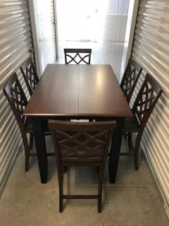 New...Counter-Height Dining Table & 6 Counter-Height Chairs
