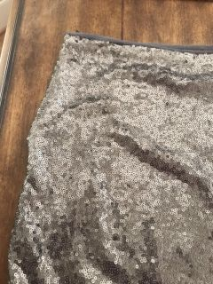 Silver sequin skirt small