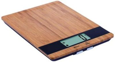 Digital kitchen scale with bamboo platformweighs up to 11 lbs