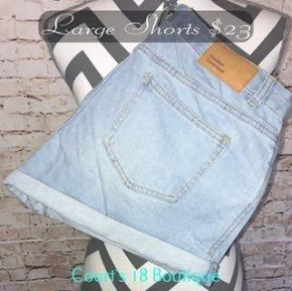 Large and curvy shorts brand new