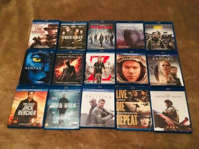 Blu-rays-Most discs have only been played once $5 ea