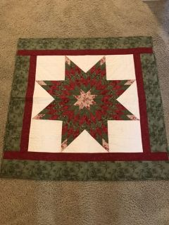 Christmas Lone Star quilt wallhanging or table topper