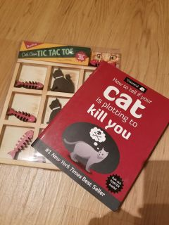 Book and Game Set for Cat Lovers