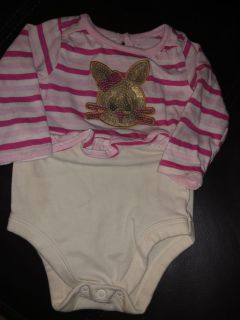 Adorable Bunny Sequins Playsuit. Nice Condition. Size 3-6 Months