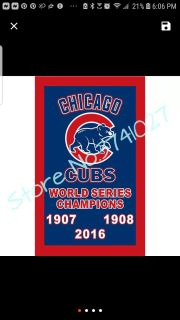 Cubs World Series Champions BANNER