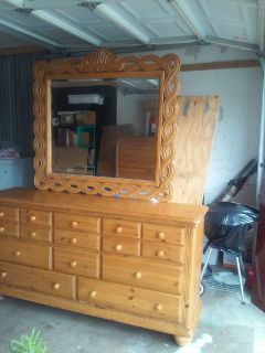 beautiful dresser with mirror