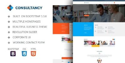 Consultancy Bootstrap HtML Template