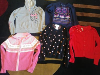 Size 7-8 Lot of Sweaters and 1 Hoodie (lot of 5)
