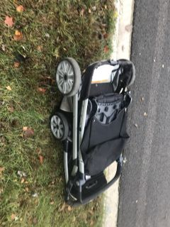 Free double Chicco stroller on curb on Meadow Lane( bar is broken but I am sure someone handy could fix it