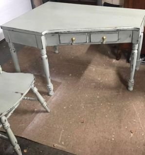 Gorgeous Ethan Allen corner desk and chair painted with Southern Honey