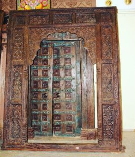 Huge Antique Wooden Arch Indian Door Frame