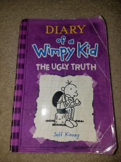 Paperback book Diary of a wimpy kid