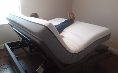 Serta adjustable king size bed massages has ports for your phone to charge you can download the remote to your phone