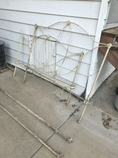 Antique Cast-Iron Bed Frame