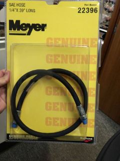"Purchase MEYER SNOW PLOW SAE HOSE 22396 1/4"" x 39"" Long SAE PLOW HOSE Meyer 22396C Hose motorcycle in Mason City, Iowa, United States, for US $51.94"