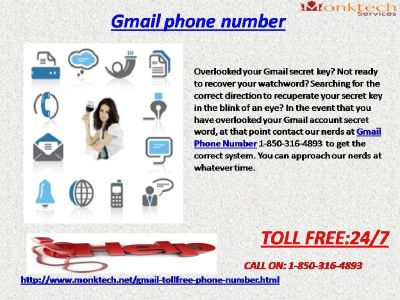 Gmail Phone Number for Password Related Worries via 1-850-316-4893