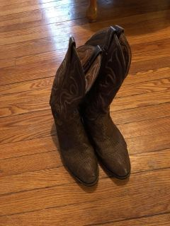 Pairs of boots for 20 each.