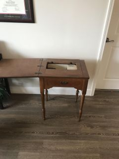 Antique Penncraft Sewing Machine and Table