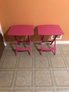 Kids folding picnic tables set of 2. Brand new