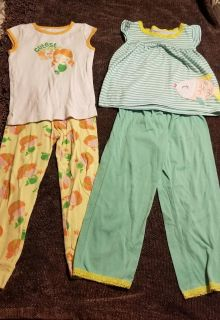 2 Pair of Carter's Pj's Size 3T