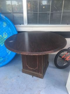 Heavy round game or porch table