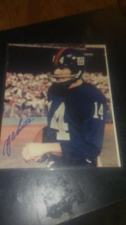 Y.A. Tittle autographed photo