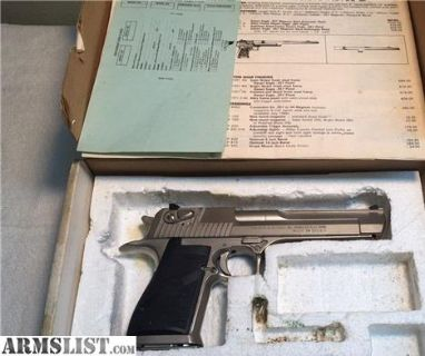For Sale: Desert Eagle 357 Mag IMI with Box and Papers Early Model Israel Military Industry 357