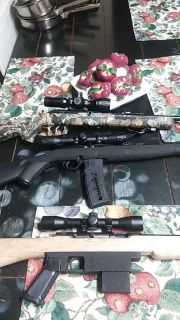 Three 22 long rifles looking to trade for a AR 15